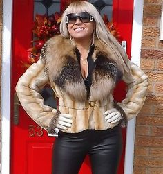 BEAUTIFUL MINK & SILVER RED CROSS FOX FUR SHORT JACKET SIZE M FAB!  | Clothes, Shoes & Accessories, Women's Clothing, Coats & Jackets | eBay!
