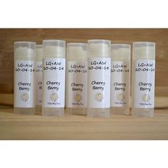 Perfect for a wedding favor!  Oval lip balm tube with labels.