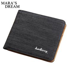 Hot Sale Fashion Men Wallets Quality Soft Linen Design Wallet Casual Short Style 3 Colors Credit Card Holder Purse Free Shipping #Affiliate