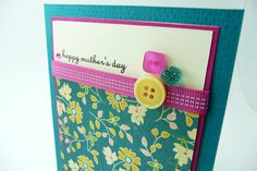 Mother's Day Greeting Card Handmade Paper by periwinklecards, $4.50 #promote @thisartofmineUS