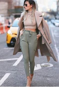 Look by @debora1995 with #casual #hm #guess #harempants #trenches #lovely #darkgreenpants.