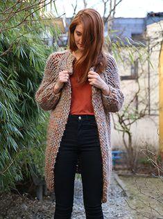 Hjertevenn jakke, strikkeoppskrift