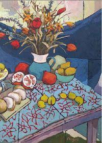 Por amor al arte: Angus Wilson Beautiful Landscape Paintings, Nature Paintings, Beautiful Artwork, Flowers In Vase Painting, Abstract Flowers, Wilson Art, Abstract Pictures, Painting Still Life, Arte Floral