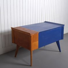 Thomas - £180.00 - Thomas once served as a sewing table and has been resorted into a quirky coffee table. The original silk upholstery and pincushion adorn the interior, left as a reminder of Thomas's previous life. Product specification: W 66 x D 38 x H 42 cm15kg