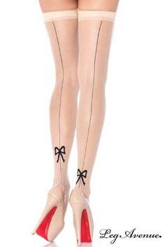 Bas Petit Noeud Simplement Chic Leg Avenue http://www.lingerie-secrete.fr/Bas-Petit-Noeud-Simplement-Chic-Leg-Avenue-a5129.html