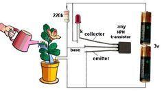 Circuito Simples de Sensor de Umidade para Vasos