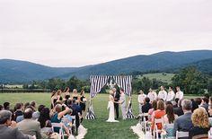 Preppy Striped Charlottesville Wedding  Read more - http://www.stylemepretty.com/2014/03/27/preppy-striped-charlottesville-wedding/