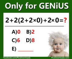 Only for Genius Puzzles Archives - Pics Story Logic Math, Math Quizzes, Math Games, Problem Solving, Logic Questions, Tricky Questions, Logic Problems, Exams Memes, Gaming