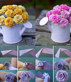 origami flower - 40 Origami Flowers You Can Do  <3 <3
