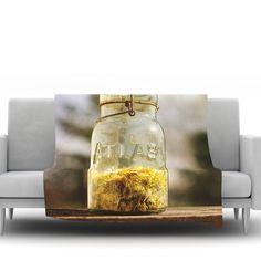 East Urban Home Jar Of Sunshine by Angie Turner Fleece Throw Blanket Size: