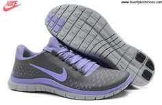 super popular 7c99d 49c8e Womens Nike Free 3.0 V4 Dark Grey Medium Violet Pure Platinum Shoes   Fashion  Nike