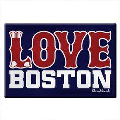 Love Boston Socks Magnet