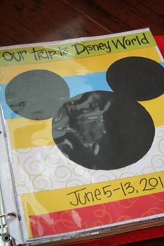 Great ideas for kids when making the trip to Disney! Make an old or unused binder into a Disney Vacation Family Photo Album! Put all your trip's memorable pictured into it! :-)