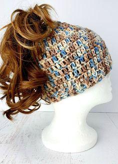 Messy Bun Hat Free Crochet Pattern in 3 Sizes | Messy buns ...
