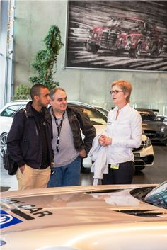 Giancarlo ,Roberto and Ursula close to the Formula One safety car