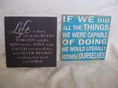 Inspirational Quote tile  Tile Block decor for wall by ShadedLines, $15.00