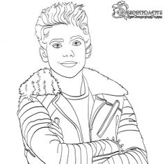 Carlos Descendants 2 Coloring Page