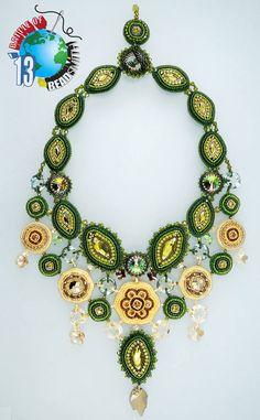 "Svetlana Dubinsky: ""Forest Song Necklace""  Battle of the Beadsmith 2013"