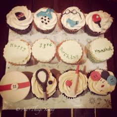 He's crazy about sports and she's crazy about him!! #sports #tennis #tabletennis #cricket #swimming #football #soccer #jersey #trunks #bat #snooker #uno #poker #pokerchips #cards #atyummy #cupcakes #customisedcupcakes #delhibakery #assorted