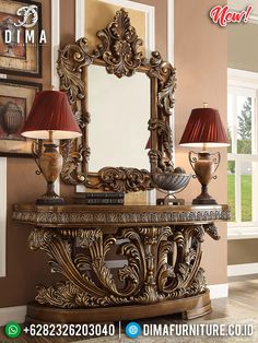 New Design Kerajaan Meja Konsol Mewah Ukiran Jepara Royal Furniture, Luxury Home Furniture, Classic Furniture, Rustic Furniture, Living Room Furniture, Living Room Decor, Antique Furniture, Modern Furniture, Outdoor Furniture