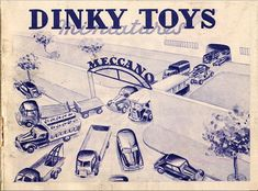 Dinky Toys katalógus 1950 - Retro játékmúzeum Retro Games, Toys, Catalog, Car, Fabric, Poster, Tractor, Automobile, Tejido