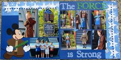 Disney Scrapbook The Force is Strong. Jedi Training