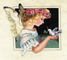 Punto de Cruz GRATIS: Angel de la PAz
