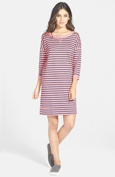 Caslon®+Roll+Sleeve+Sweatshirt+Dress+available+at+#Nordstrom