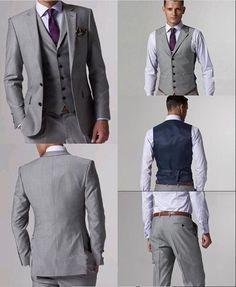 #man suit,#groom suit 2015 New Custom Made Grooms Wedding Suits For Men 3 Pieces Suits Trajes De Novio Groom Suit Wedding Size Clothing Traje Novio