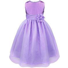 4afc0cf3518f Amazon.com  iEFiEL Big Girls Kids Glitter Sequin Wedding Flower Dress  Pageant Prom Ball Dress  Clothing