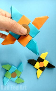 Ninja Fidget Spinner DIY - Paper Only, NO TEMPLATE Needed. The fun with Fidget Spinner DIY continues. Don't have time to print off a template? Don't fear. Today we have an Origami Fidget Spinner DIY for you. Well.. it is BASED on the Origami Ninja Star.. and then quickly and easily turned into a Ninja Star Fidget Spinner DIY. Check out this great how to make a paper fidget spinner DIY!! Enjoy.