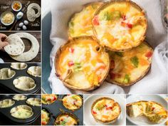 Mini Cheese and Egg Tortilla Cups