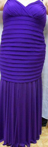 R&M Richards Women's Gown Style 3309w Plus Size 20W in Purple Iris – Rebekah's Treasures