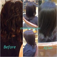 A Brazilian Blowout for healthier shinier hair! Done here at @City Sap by Chelsea!  www.changesaregood.com