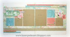 Karen Pedersen: August Play Group Scrappin' Class Layouts (Seaside)