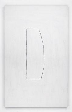 Erik Lindman | Untitled, 2014 | found surface (aluminum), oil on hemp over panel
