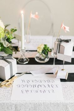 Calligraphy party: http://www.stylemepretty.com/2015/03/24/diy-calligraphy-inspired-bridal-shower/ | Photography: Laurelyn Savannah - http://www.laurelynsavannahphotography.com/