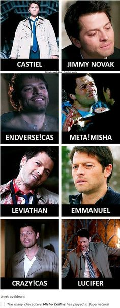 Leviathan Cas was terrifying. Amazing to think all of these were the same man.