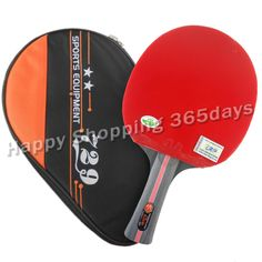 RITC 729 2-star 2 star 2star pips-in table tennis pingpong racket with a bat case Shakehandlong handle FL #Affiliate