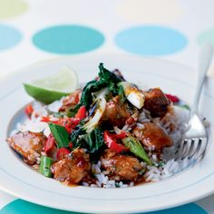 Chilli and thyme pork sir fry / This healthy pork stir-fry works great as a quick and easy midweek supper.