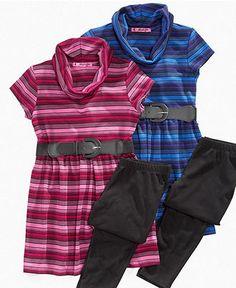 Energie Kids Set, Girls Hacci Belted Tunic and Leggings - Kids Girls 7-16 - Macy's