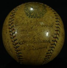 1928 Athletics Team OAL Baseball Signed by (21) with Connie Mack, Ty Cobb, Jimmie Foxx (JSA LOA) at PristineAuction.com $20 #autograph