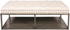 Vanguard Furniture - Our Products - W58LMKE Wayland Large Rectangular Metal Ottoman