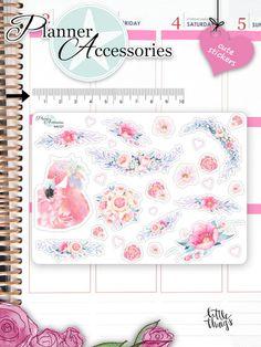 Sticker - Blumen Sticker Flamingo Sticker NR727 - ein Designerstück von PlannerAccessories bei DaWanda