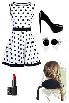 """Black and White"" by vintagegirl809 ❤ liked on Polyvore"