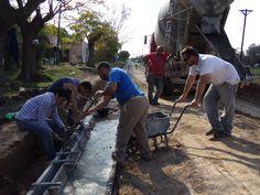 Cordón cuneta y diferentes trabajos en calle Misiones