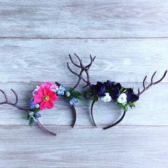 Woodland Deer Antler Floral Headband