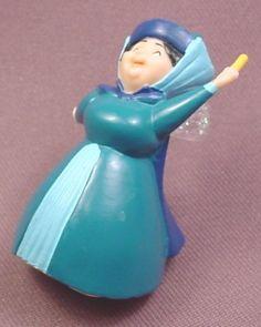 "Disney Sleeping Beauty Merryweather Fairy PVC Figure, 2 1/2"" tall"