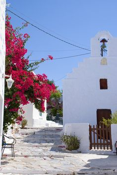 Church in Amorgos island, Greece Greece Travel, Greece Trip, Bougainvillea, Paros, Cool Photos, Amazing Photos, Culture Travel, Crete, Beautiful Landscapes