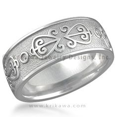 """Power+of+Love+Symbol+Wedding+Band+-+""""Odo+nnyew+fie+kwan""""--""""Love+never+loses+its+way+home."""""""